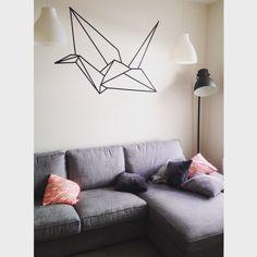 Wall art. Crane origami