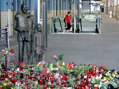 Statue of Sir Nicholas Winton. Dozens of people came to the Prague's main railway station Praha hlavní nádraží to commemorate the recent death of Sir Nicholas Winton, who saved over 650 Jewish children from Czechoslovakia from almost certain death in Nazi extermination camps on the eve of World War II. Winton died on July 1, 2015 in hospital near his home in Maidenhead, England