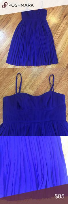 New LK Bennett blue/purple pleat dress! Sz US 10 Gorgeous flowy pleated dress from LK Bennett. More purple than it shows in pictures. Lined for modesty. Side zip. Spaghetti straps are adjustable. US size 10. Please know this is a European company and may run smaller than US. Listing as an 8 for this reason. LK Bennett Dresses
