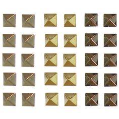 Set of 15 Pairs of Pyramid Stud Earrings, 8mm 2.99