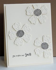 Mama Mo Stamps: Clean Simple Card Making - Day 3 Pretty Cards, Cute Cards, Card Making Inspiration, Making Ideas, Embossed Cards, Sympathy Cards, Paper Cards, Flower Cards, Creative Cards