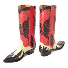 Uma's Boots in Kill Bill vol. 2. They get her out of a pinch in the grave scene.   Champion Attitude Boot Company Golden Eagle Cowboy Boots Cowboy Boots to Wear, Cowboy Boots to Admire.