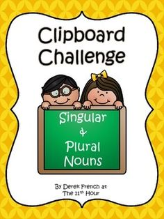 Clipboard Challenge - Singular and Plural Nouns freebie 2nd Grade Classroom, Classroom Ideas, Grade 2, Second Grade, Noun Activities, Daily 5 Reading, Singular And Plural Nouns, Grammar And Punctuation, Parts Of Speech