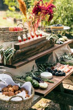 Tuscan themed garden party