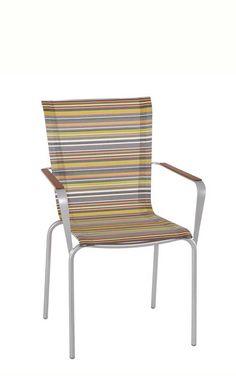 Best Gartenstuhl in Regenbogenfarben MBM Papillon Stapelsessel Mehr Eisen und Textilene Gartenst hle gibt us bei Garten
