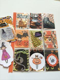 Halloween themed pocket letter.