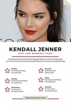 Kendall Jenner Diet Workout Plan AND Fitness Routine fitnees. - Kendall Jenner Diet Workout Plan AND Fitness Routine fitnees routine - Kylie Jenner Diet, Kendall Jenner Workout, Kendall Jenner Body, Fitness Model Diet, Body Fitness, Fitness Models, Workout Fitness, Squats Fitness, Health Fitness
