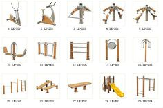 Outdoor Gym, Outdoor Decor, Sport Rack, Fitness Trail, Backyard, Gym Stuff, Wood, Pump, Exercise