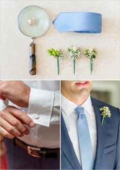groom getting ready #babyblue http://www.weddingchicks.com/2013/11/21/fantasy-wedding/