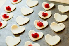 #Milk is the star of these Mini Heart #Cookies from @thedessertlover. Enjoy!