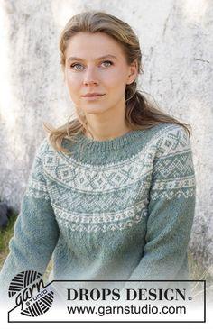 Knitting Stitches, Knitting Designs, Knitting Patterns Free, Knit Patterns, Free Knitting, Drops Design, Pull Jacquard, Knit Vest Pattern, Drops Patterns