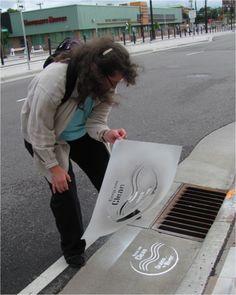 FMR   St. Paul's new storm drain stencil