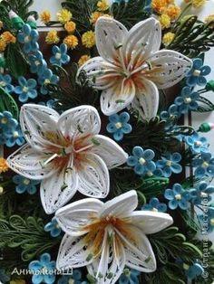 Картина панно рисунок Квиллинг Вальс цветов Бумажные полосы фото 5 by leanne