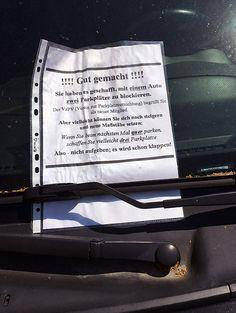 Verein zur Parkplatzvernichtung – Aufnahmeprüfung bestanden