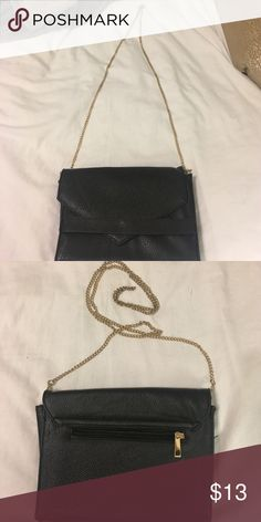 Black/Gold Satchel Never worn, perfect condition! Charlotte Russe Bags Satchels