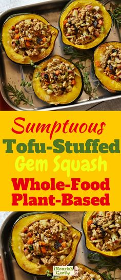 Delightful tofu-stuffed squash! #squash #vegan #plantbased