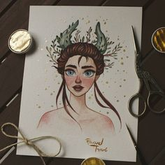La mujer de los bosques Dibujo basado en una foto que encontré en Pinterest y de la cuál no he conseguido encontrar al artista Deslizad para ver la foto! Si conocéis al fotógrafo decídmelo // Woman of the Woods Drawing based on a photo I saw in Pinterest but I couldn't find the photographer Swipe to see the photo! I you know the artist, let me know #woods #forest #illustrator #illustration #nature #photo #sketchoftheday #sketchbook #watercolor #polychromos #artiston...