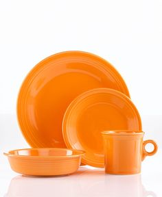 Orange Fiesta dinnerware set, $50; Photo courtesy of Macy's #registry