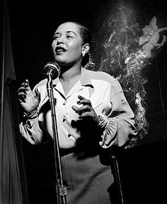 This black and white Billie Holiday print features the iconic jazz singer in her prime. Purchase this photo of Billie Holiday in NYC at Morrison Hotel Gallery. Billie Holiday, Jazz Artists, Jazz Musicians, Music Artists, Montreux Jazz Festival, Nova Orleans, Lady Sings The Blues, Foto Portrait, Photo Star