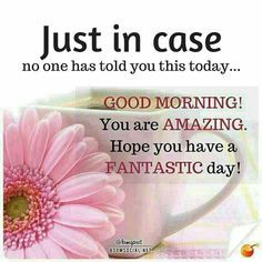 Just In Case No One Told You Good Morning morning good morning morning quotes good morning quotes morning quote good morning quote inspirational good morning quotes