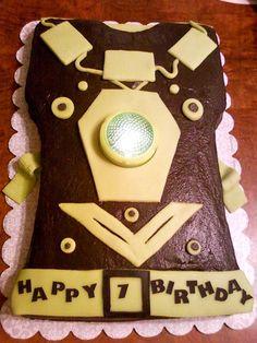 Lazer tag birthday cake with working light