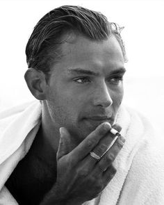 young jude law hair sliick back - Google Search