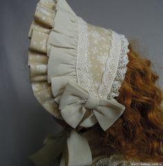 Платье и боннет для антикварной куклы / Антикварные куклы, реплики / Шопик. Продать купить куклу / Бэйбики. Куклы фото. Одежда для кукол