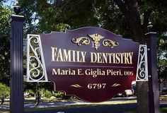 Gilded Sign for a Dentist Signage Design, Logo Design, Dental Office Design, Signwriting, Family Dentistry, Business Signs, Past Life, Things To Come, Typography
