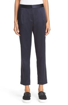 T BY ALEXANDER WANG Crop Stretch Satin Trousers. #tbyalexanderwang #cloth #