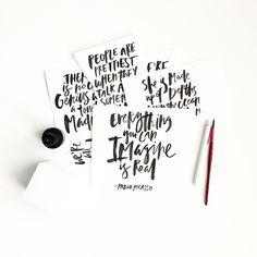 Handlettering by Courtney Shelton / HIBRID | #handlettering #typography #brushlettering