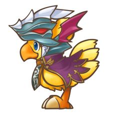 A Dragoon Chocobo.  That's adorable.  . w .