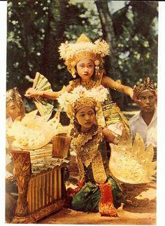 Balinese Dancers Doing Legong Dance