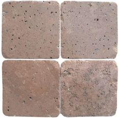 4x4, 6x6, 3x6 Mexican Travertine Chocolate.  www.windsonglife.com