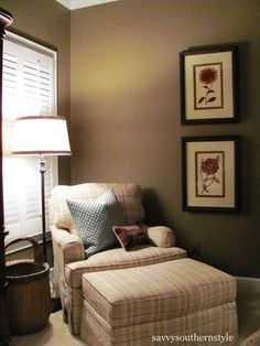 Love the reading nook in the master bedroom.