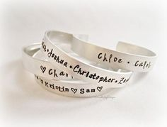 Personalized Hand Stamped Cuffs | Made on Hatch.co