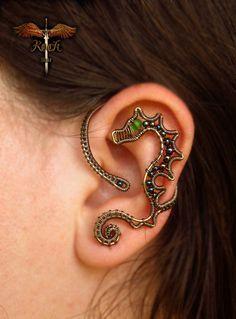 Custom made earrings and earcuffs. $30.00, via Etsy.