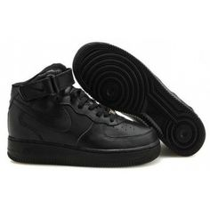separation shoes 46850 5d631 Nike Air Force 1 Mid Shoes All Black Classic,Discount shoes,cheap sneakers
