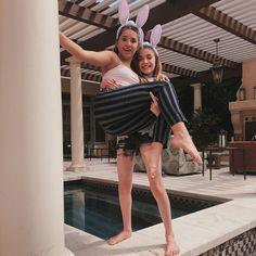 Mackenzie with her best friend Lauren Orlando on Easter!