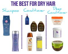 Our top picks for the best hair products for dry hair! More at: http://www.latest-hairstyles.com/products/shampoos-conditioners-for-dry-hair.html