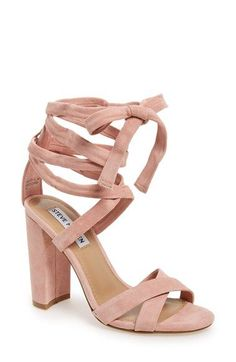 Free shipping and returns on Steve Madden 'Christey' Wraparound Ankle Tie Sandal (Women) at Nordstrom.com. A wrapped, half-moon heel grounds a trend-right suede sandal topped with crisscrossing toe straps and leg-flattering wraparound ankle ties for a chic update to your season-spanning wardrobe.