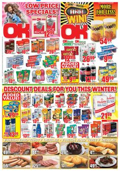 OK Grocer Danabaai amazingly low prices valid until end of June 2013 Watch This Space, Discount Deals, South Africa, June, Rainbow, Rain Bow, Rainbows