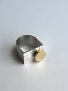 Andra Lupu - silver and brass ring