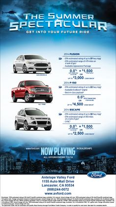 Don't miss the Summer Spectacular sale here at AV Ford!