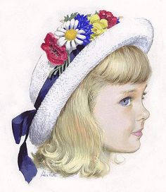 I remember having little hats like this at Easter held on by a little cord of elastic.