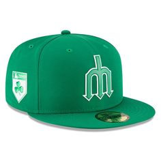 Men's Seattle Mariners New Era Green 2018 St. Patrick's Day Prolight 59FIFTY Performance Fitted Hat