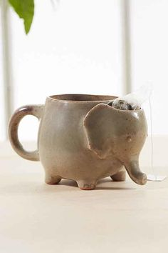 Plum & Bow Elephant Tea Mug from Urban Outfitters. Saved to Coffee Mugs . Shop more products from Urban Outfitters on Wanelo.