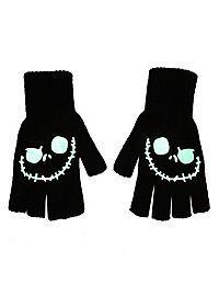 The Nightmare Before Christmas Glow-In-The-Dark Jack Fingerless Gloves
