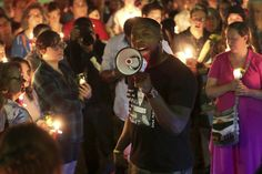 """Charlottesville Vigil Against Hate Outdraws White Supremacist Rally  Hundreds of protesters gathered for a """"vigil against hate"""" on Sunday in Charlottesville, Virginia, one day after a smaller rally by white supremacists."""