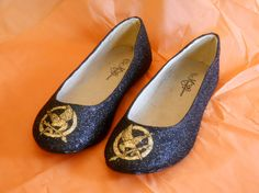Hunger Games Mockingjay Glitter Shoes by aishavoya on Etsy, $85.00 @Rachael Kulick @Leah Recker