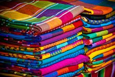 Tablecloths from Mexico, love this!